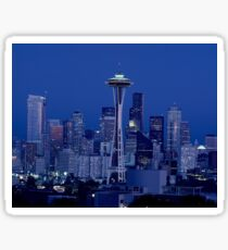Space Needle At Night Sticker