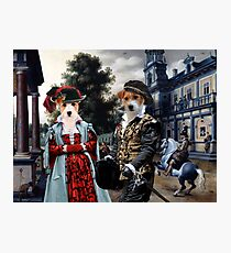 Jack Russell Terrier Art Canvas Print - -Figures in a Palace Garden  Photographic Print