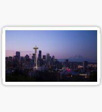 Seattle At Night Sticker