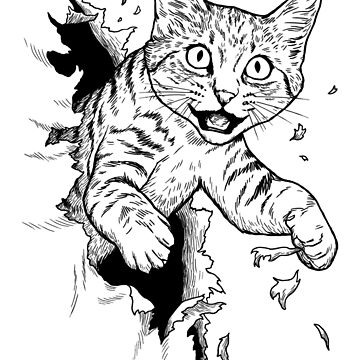 Cat Busting Through de designbydinny