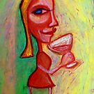 Girl with Red Wine by kimbaross