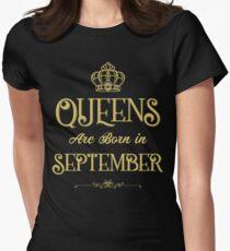 Camiseta entallada para mujer Las reinas nacen en septiembre camiseta