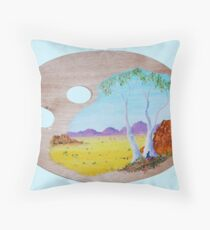 Palette Painting Throw Pillow