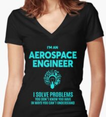 AEROSPACE ENGINEER BEST DESIGN 2017 Women's Fitted V-Neck T-Shirt