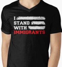 I stand with immigrants T Shirt USA Flag country Shirts T-Shirt