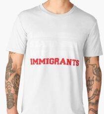 I stand with immigrants T Shirt USA Flag country Shirts Men's Premium T-Shirt