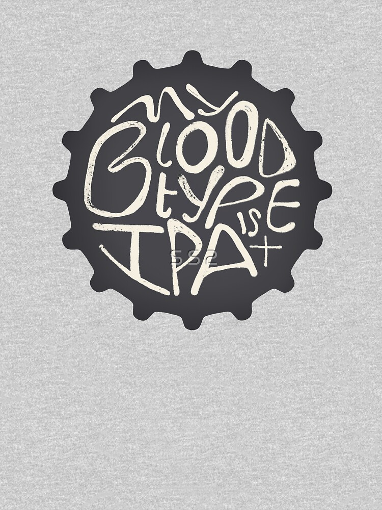 "Beer bottle cap ""My blood type is IPA+"" by simpleserene"