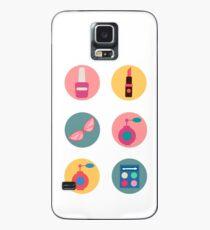 Cosmetics Set. Icons Set. Cosmetology. Fashion and Beauty. Perfume, Polish, Pomade. Female Beauty. Vector illustration. Flat Style Case/Skin for Samsung Galaxy
