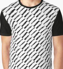 Brush Strokes Painted Pattern Diagonal Graphic T-Shirt