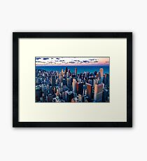 Chicago By Lake Michigan (Sundown) Framed Print