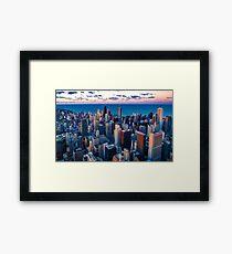 Chicago By Lake Michigan (Sundown) Framed Print