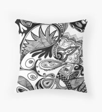 Paisley revisited Throw Pillow