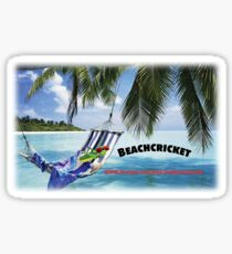 BEACHCRICKET IN A HAMMOCK Sticker