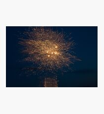 Abstract V - Fireworks Photographic Print