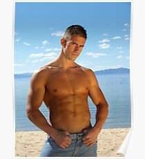 Elite Male Fitness Model - A002 Poster