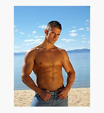 Elite Male Fitness Model - A002 Photographic Print