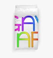 Gay AF - Show your pride with pride! Duvet Cover