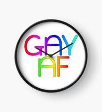 Gay AF - Show your pride with pride! Clock