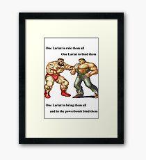 Zangief and Haggar, powerbombs and lariats Framed Print