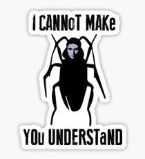 Franz Kafka Metamorphosis Quote Insect Cockroach Sticker