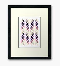 Purple 70s Style Pattern Design Framed Print