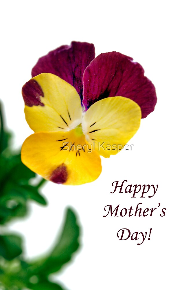 Happy Mother's Day Card with Pansy by Sheryl Kasper