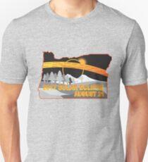 2017 Solar Eclipse Across Oregon Cities Map Illustration Unisex T-Shirt