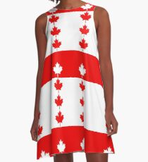 Canadian Flag Inspired A-Line Dress
