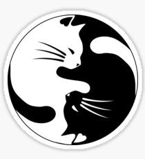 Cats yin Sticker