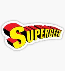 Supergeek Sticker
