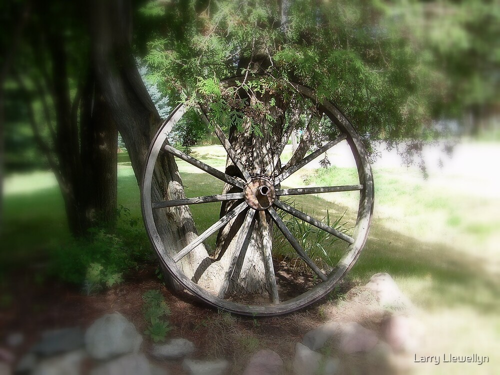 A Wheel of the Past by Larry Llewellyn