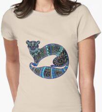 slinky black Ferret Women's Fitted T-Shirt