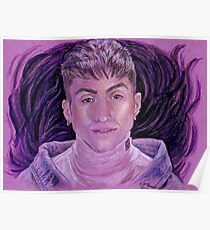 Mitch Grassi on Purple Poster