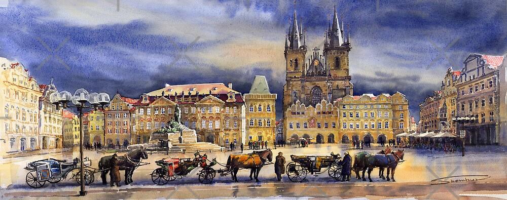 Prague Old Town Squere After rain by Yuriy Shevchuk