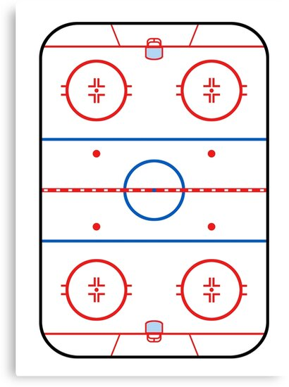Ice Rink Diagram Hockey Game Companion Canvas Prints By Garaga