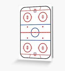 Eisbahn Diagramm Hockey Spiel Companion Grußkarte