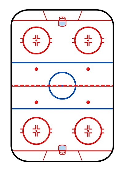 Ice Rink Diagram Hockey Game Companion Photographic Prints By