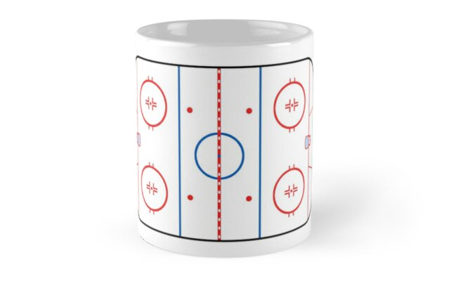 Ice Rink Diagram Hockey Game Companion Mugs By Garaga Redbubble