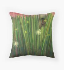 My Bed of Tall Grass Throw Pillow