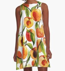 Passionate for peaches A-Line Dress