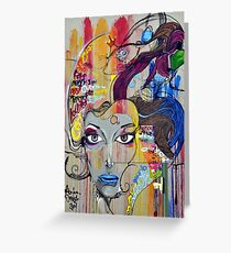 Graffiti Mural Art Greeting Card