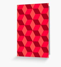 Geometric Cubes - Abstract Art Greeting Card