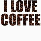 I Love Coffee In Coffee Bean Font by pjwuebker