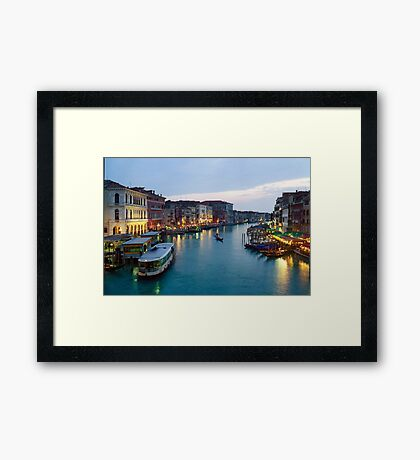 Venice Evening - 16x24 Framed Print