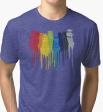 Dalek Extermination Rainbow Tri-blend T-Shirt