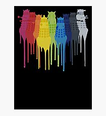 Dalek Extermination Rainbow Photographic Print