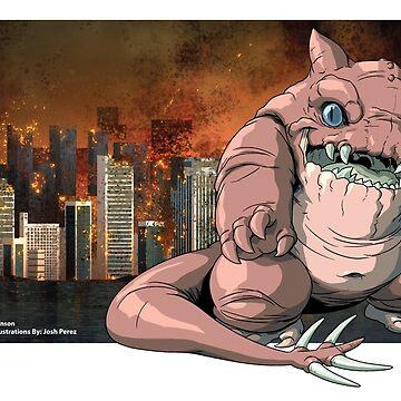 "Kaiju GLUTTONOUS Monster ""Mug"" by CMJTOYS"