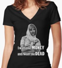 Camiseta entallada de cuello en V Debbie Jellinski
