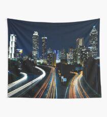 Atlanta City Skyline  (Night)  Wall Tapestry