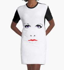 Everybody Knows about the Ex's Face Graphic T-Shirt Dress